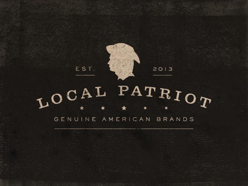 Local Patriot logo identity logotype america american local genuine craft clothing nostalgic rustic patriot