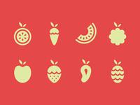 Fruta Fria icons