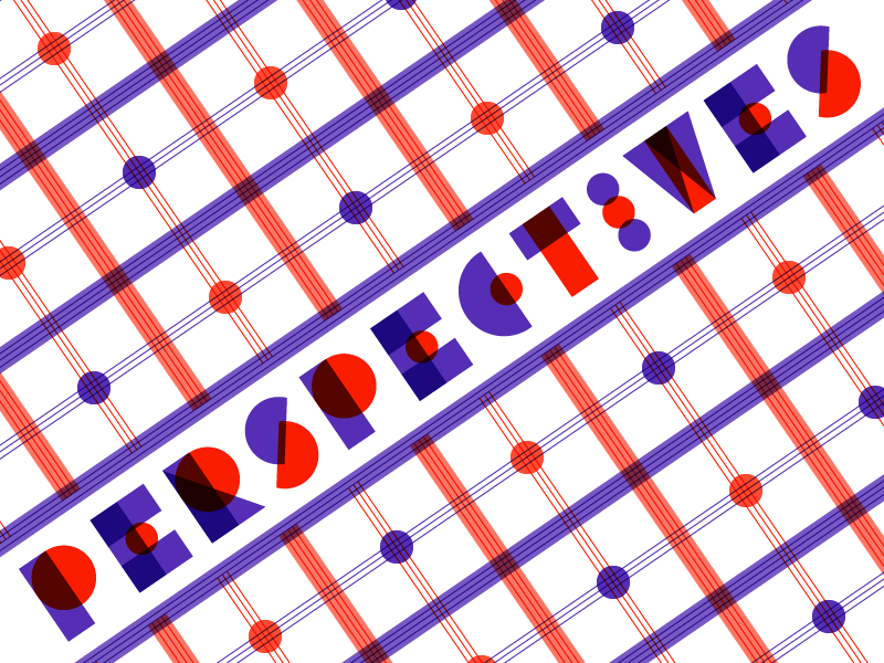 Perspectives perspective font type typography custom vibrant multiply geometric line work lines