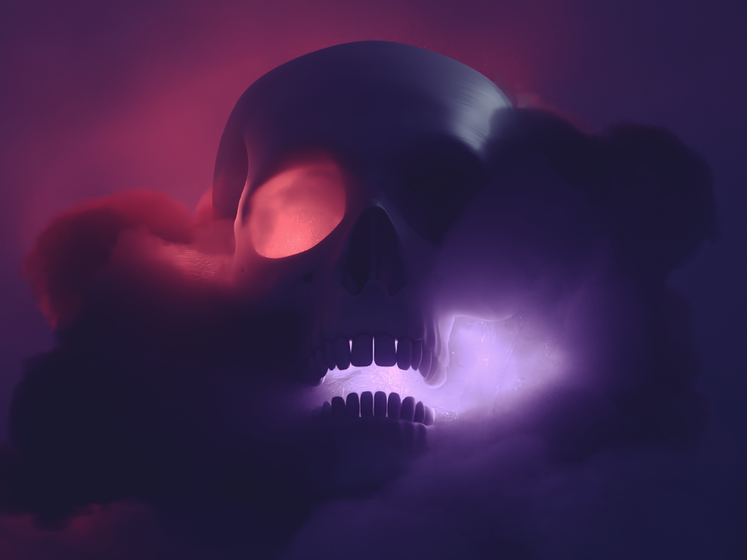 Skull Volume 1 redshift3d cinema 4d 3d art art direction vdb volumes skull