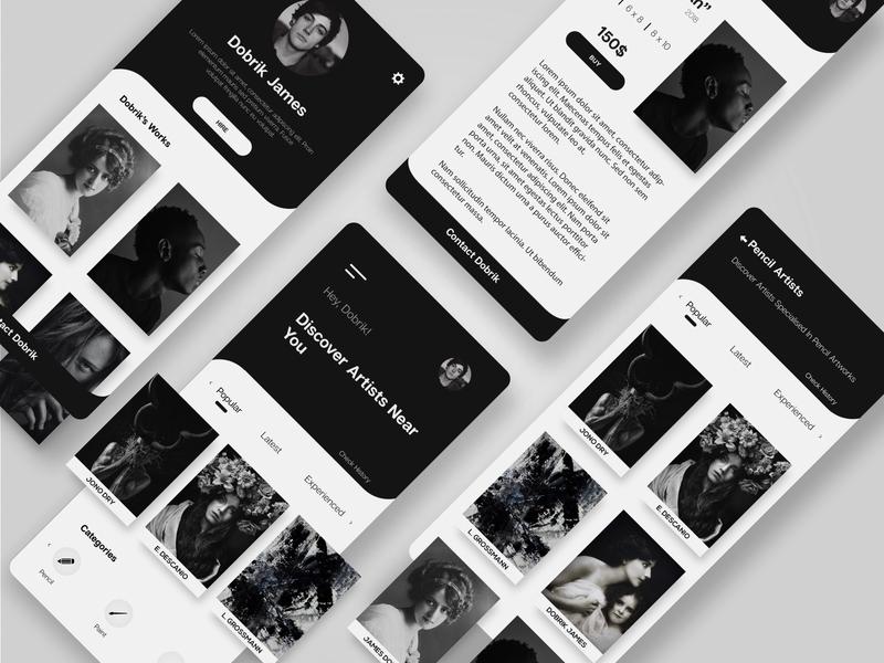 Discover Artists - Mobile app UI Design