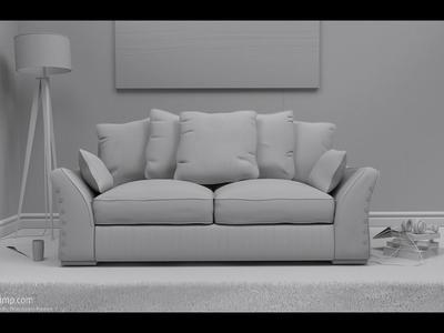 Boston Room - clay render