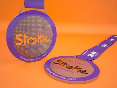 VIrtual race medal for The Stroke Association