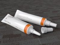 Cream Tube realistic model and texture