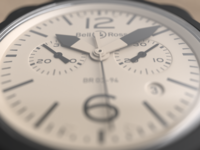 Bell and Ross watch - close up render
