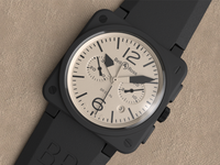 Bell and Ross watch - close up render - www.daveadavidson.com