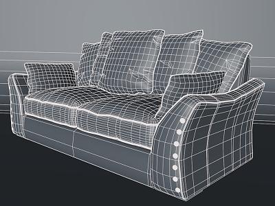 Sofa Wire Renderpimp cinema4d moi3d illustration productshot 3d cg maxwell render freelance freelancer