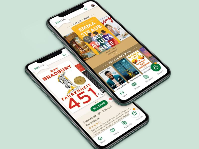 Būk Club | Book Shopping App visual design mobile app design mobile app mobile ui user interface user interface design ui app design