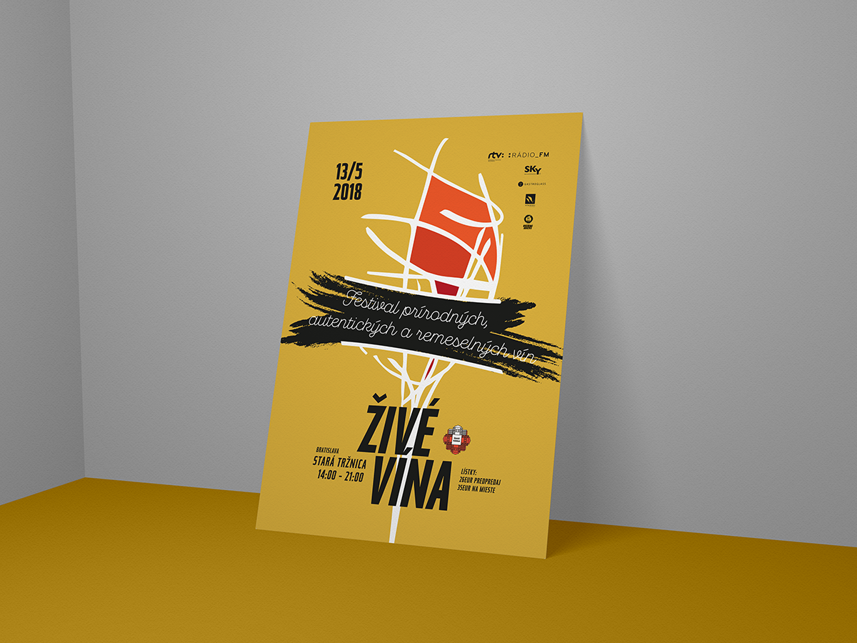 Visual for Festival of artisan wines Živé Vína visual  identity festival poster key visual illustration flyer poster collection poster flyer artwork vector design
