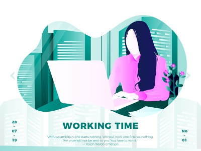 Working Time Illustration illustration
