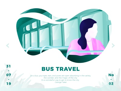 Bus Travel Illustration illustration