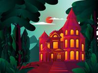 Victorian House Illustration