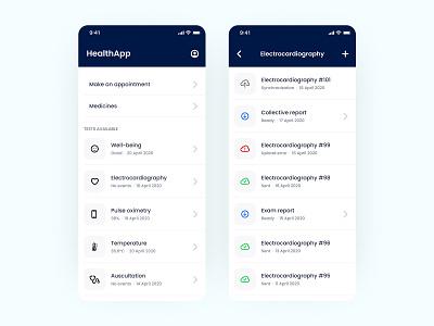 HealthApp ios app design ios app ios ux ui mobile app mobile minimal flat design app