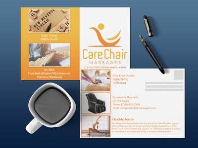 Carechairmessage Postcard Design