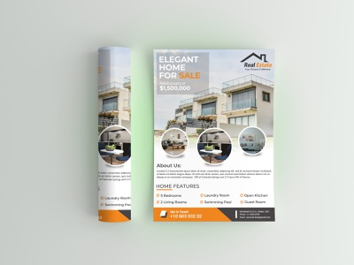 Real Estate Flyer Template real estate branding professional flyer clean flyer design real estate agent free flyer template flyer design real estate realestate business advertising adobefaysal advertisement branding