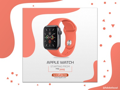 Apple Watch Social Media Advertisement Design