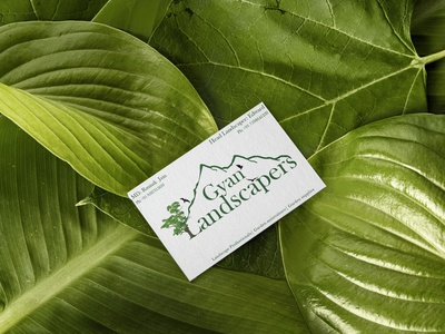Gyan Landscapers logo and visiting card design logodesigns minimal typography logo vector design visual design mountainlogo logodesignersclub logodesign graphicdesign gardenlogo gardener gardenscapes natural visual art visiting card