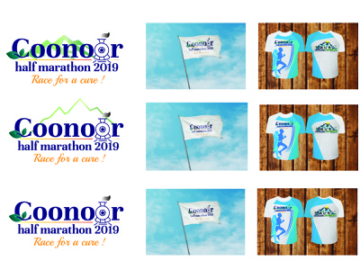 Coonoor half marathon flag logos brochure design illustration icon vector branding design logodesigner tshirtdesig tshirtdesig graphic marathon tshirtdesign logodesign