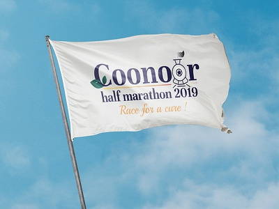 Coonoor half marathon orange logo train vector graphicdesign marathon mockup logos logodesign logotype logo