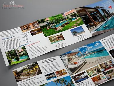 Trifold Brochure design standiedesign luxuryvilla villabrochure flyer trifold design brochuredesign