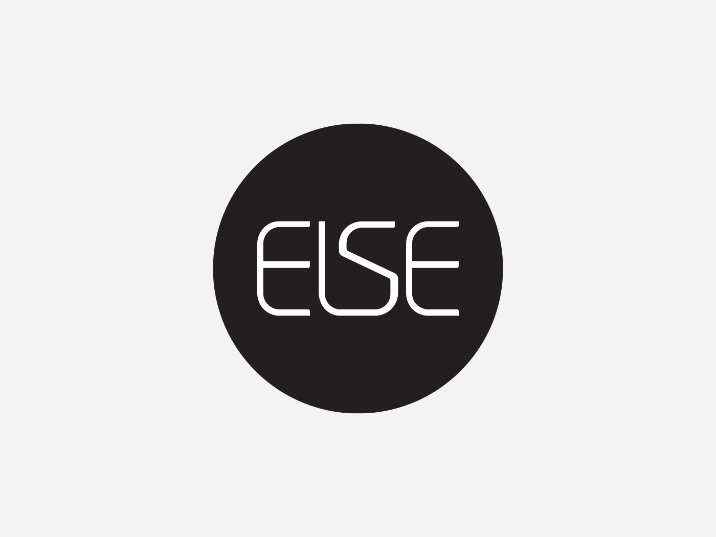 ELSE custom type minimalist web typography icon branding logo