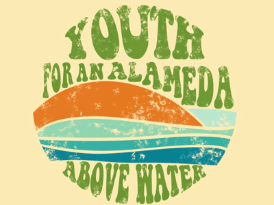 Youth For An Alameda Above Water hippie illustrator students nature activism climate change seventies 70s retro