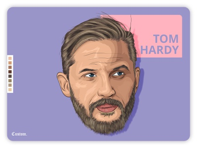 Tom Hardy art animation illustraion portrait draw trace paint digital painting venom peaky blinders hollywood landingpage ux ui vector color creative actor character tom hardy cinema