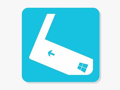 Winphone website logo illustration logo branding vector flat design