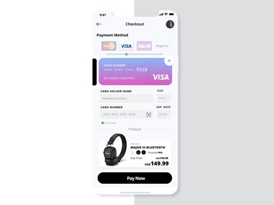 Credit Card Checkout - #UI