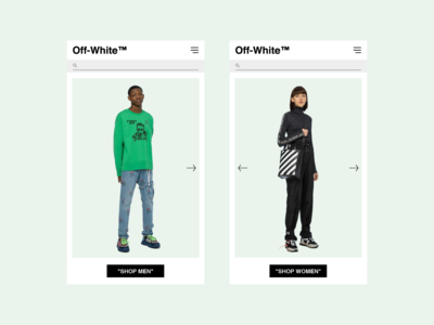 off-white mobile web (unofficial) redesign