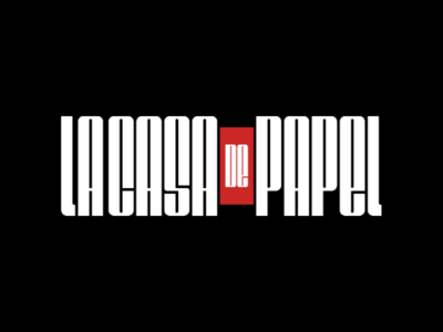 La Casa de Papel netflix film movie simple clean la casa de papel logo type lettering typography logotype