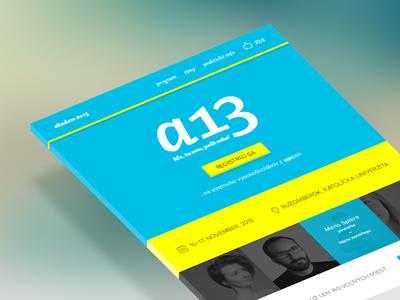 Conference Website conference website web webdesign web design home page landing page flat minimal