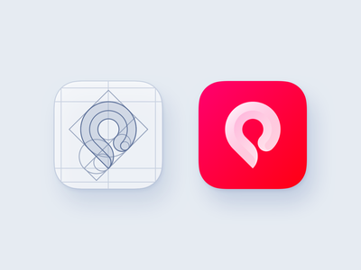 POI Pinner App Icon construction ios logo iphone process construction ios app design point location red icon app icon app pin