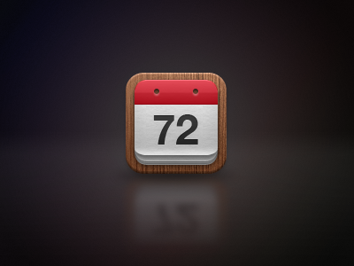 Countdown Me iPhone Icon iphone icon app ios countdown calendar red wood riverstone apple