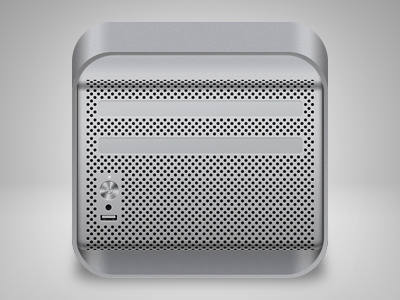 Mac Pro iOS icon mac pro ios icon apple iphone desktop computer gray steel