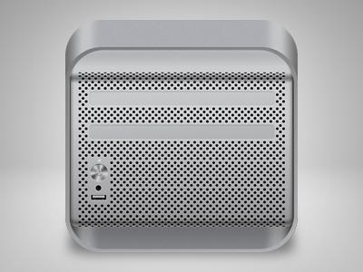 Mac Pro iOS icon mac pro ios icon apple iphone desktop computer gray steel