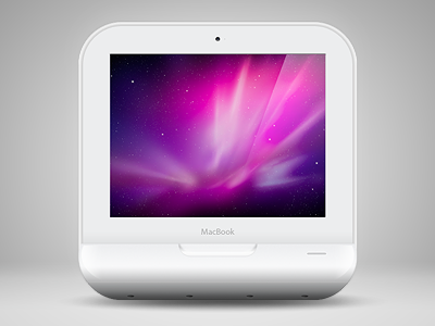 MacBook iOS icon mac notebook laptop macbook ios icon apple iphone app white plastic iconset