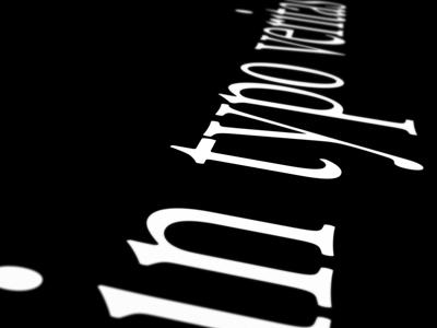 In typo veritas font lettering character garamond white black veritas typography type