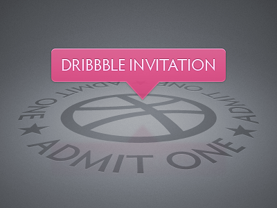 Dribbble Invite Giveaway dribbble invite invitation giveaway draft player pink