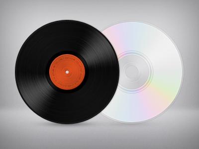 Vinyl & CD icon vinyl cd compact disc lp dvd music media icon retro