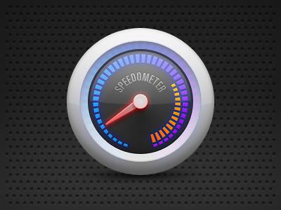 Speedometer clock speedometer tachometer meter thermometer speed icon carbon