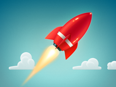 Rocket – game concept rocket game iphone icon cloud clouds red sky draft concept artwork illustration cartoon gloss space ios