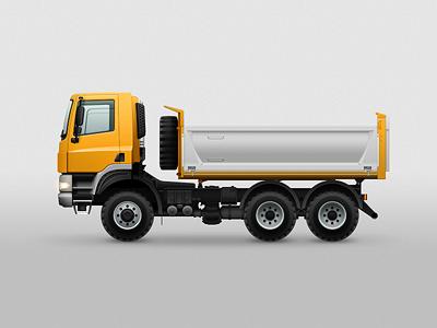 Truck illustration vehicle truck tatra vector photoshop illustration yellow