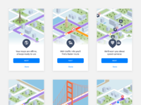 Sygic onboarding animation screens