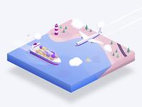 Shipping diorama