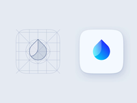 App Icon construction process design process guidlines icon design icon grid iphone drinking water drop icon app structure grid composition logo construction construction app icon