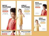 kids clothing google banner ad sample