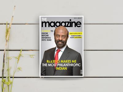 The magazine - Magazine cover design | Shiv nadar