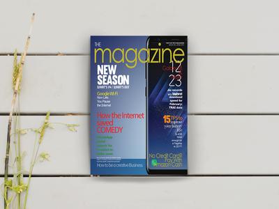Tech Magazine Mobile Cover design