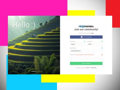 Registration Page | Sign up page Design